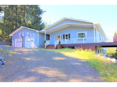 Coquille Single Family Home For Sale: 91845 Indian Plum Ln