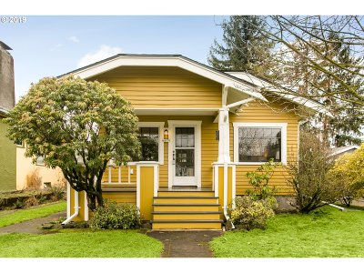 Multnomah County Single Family Home For Sale: 6857 N Michigan Ave