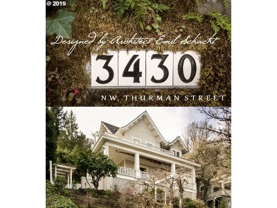 Portland Single Family Home For Sale: 3430 NW Thurman St