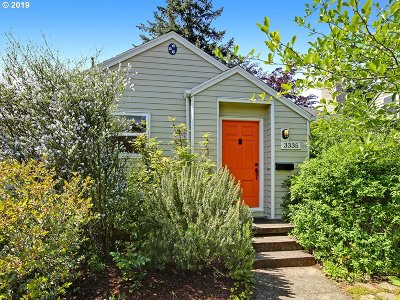 Portland Single Family Home For Sale: 3335 SE 68th Ave