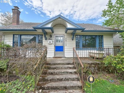 Multnomah County Single Family Home For Sale: 5915 N Moore Ave