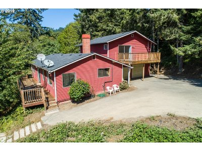 Brookings Single Family Home For Sale: 97888 S Bank Chetco Rd