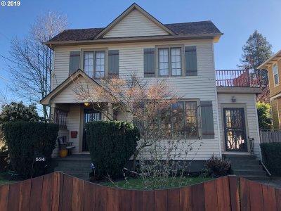 Single Family Home For Sale: 534 NE Prescott St