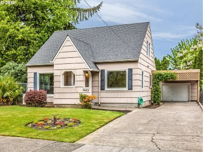 Clackamas County, Multnomah County, Washington County Single Family Home For Sale: 7421 N Princeton St