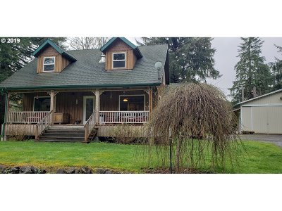 Vernonia Single Family Home For Sale: 62713 Riverside St