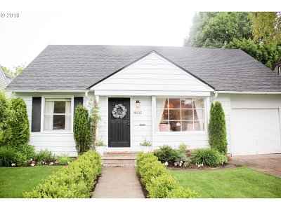 Multnomah County Single Family Home For Sale: 8631 NE Pacific St