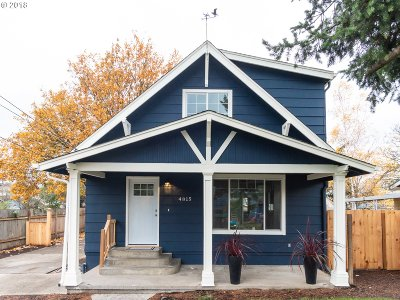 Portland Single Family Home For Sale: 4815 SE 100th Ave