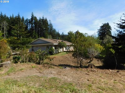 Port Orford Single Family Home For Sale: 92858 Blackberry Ln