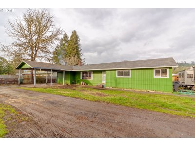 Willamina Single Family Home For Sale: 25005 Yamhill River Rd