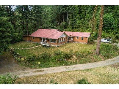 Coos Bay Single Family Home For Sale: 67085 Marlow Crk Rd