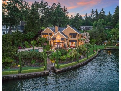 Lake Oswego OR Single Family Home For Sale: $6,888,000