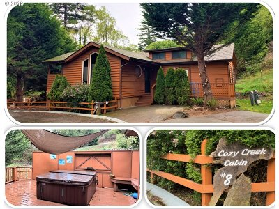 Brookings Single Family Home For Sale: 97748 N Bank Chetco Rd #8