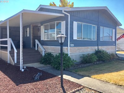 Sutherlin Single Family Home For Sale: 1200 E Central Ave #99