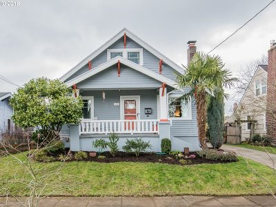 Portland Single Family Home For Sale: 1625 N Emerson St