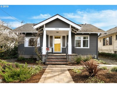 Portland Single Family Home For Sale: 7526 N Elmore Ave
