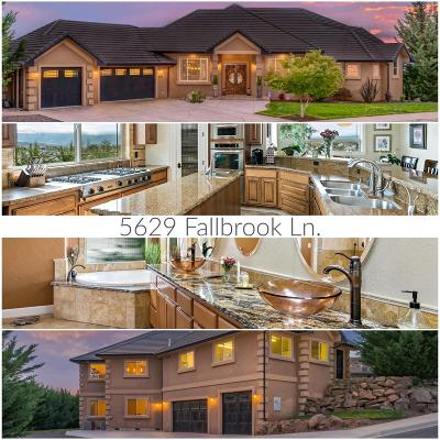 Single Family Home For Sale: 5629 Fallbrook Lane