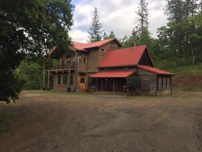 Jackson County, Josephine County Single Family Home For Sale: 3537 S Fork Little Butte Crk Road