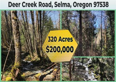 Selma, Wilderville Residential Lots & Land For Sale: Deer Creek Road
