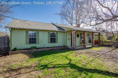 Talent Single Family Home For Sale: 206 Gibson Street