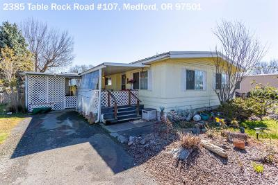 Medford Mobile Home For Sale: 2385 Table Rock Road #107