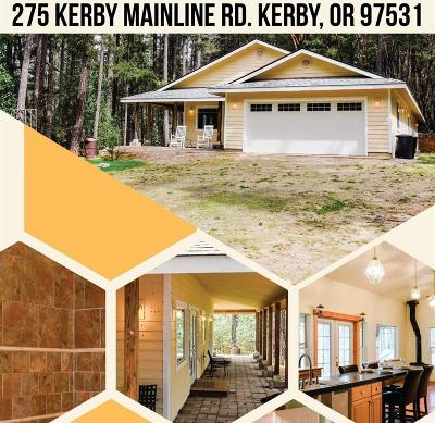 Kerby Single Family Home For Sale: 275 Kerby Mainline Road
