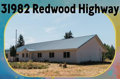 Jackson County, Josephine County Single Family Home For Sale: 31982 Redwood Highway
