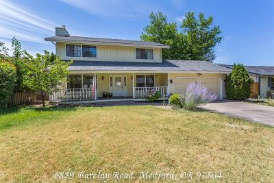Medford Single Family Home For Sale: 2829 Barclay Road