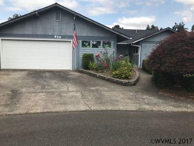 Keizer Single Family Home Active Under Contract: 859 New Terrace Ct