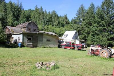Sweet Home Single Family Home For Sale: 46431 Santiam (-46437) Hwy