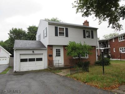 Altoona PA Single Family Home For Sale: $114,900