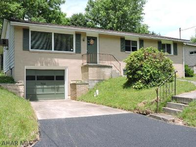Hollidaysburg Single Family Home For Sale: 705 Brush Mountain Road