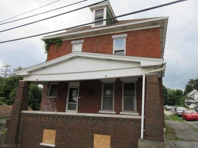 Altoona PA Single Family Home For Sale: $7,000