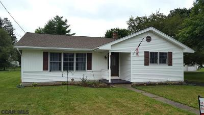 Spring Mills PA Single Family Home For Sale: $155,000