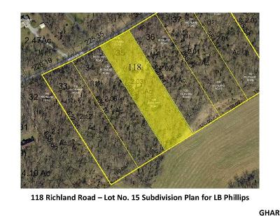 Carlisle Residential Lots & Land For Sale: 118 Richland Road (Lot 15)