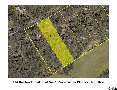 Carlisle Residential Lots & Land For Sale: 114 Richland Road (Lot 16)