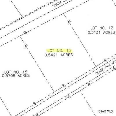 Residential Lots & Land For Sale: Glade View Drive #13