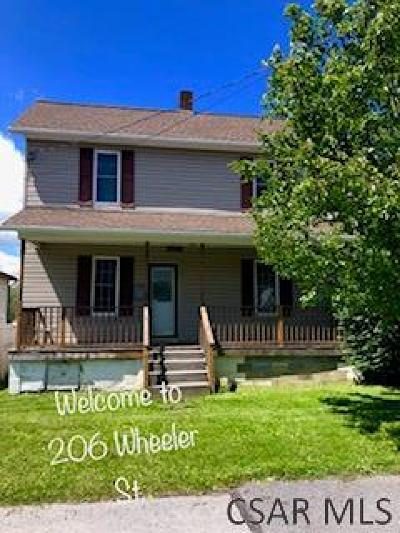 Single Family Home For Sale: 206 Wheeler Street