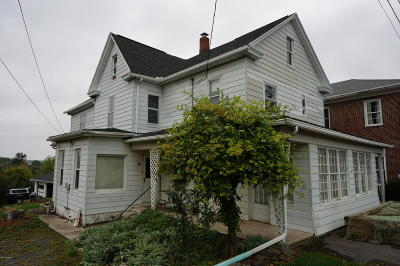 Catawissa PA Single Family Home For Sale: $59,900