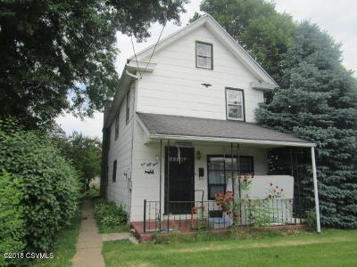 Bloomsburg PA Single Family Home For Sale: $85,000