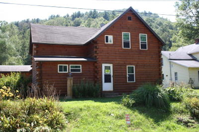 Sinnemahoning PA Single Family Home For Sale: $60,000