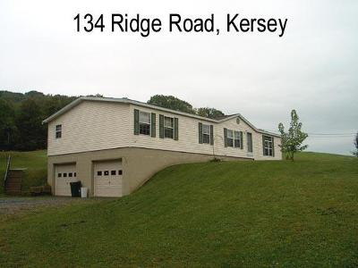 Elk County Single Family Home For Sale: 134 Ridge Rd