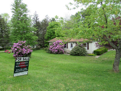 Elk County Single Family Home For Sale: 600 Virginia Rd