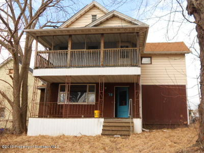 Lackawanna County Multi Family Home For Sale: 70 Rear Belmont St