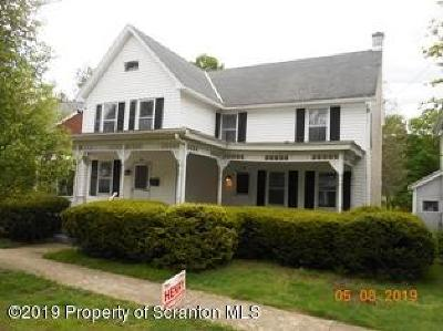 Tunkhannock Single Family Home For Sale: 72 Elm St