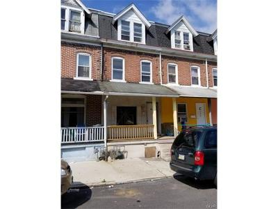 Allentown City Single Family Home Available: 742 South Hall Street