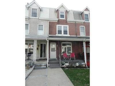 Allentown City Single Family Home Available: 628 North West Street