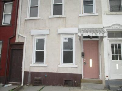 Allentown City PA Single Family Home Available: $75,000