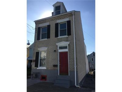 Allentown City Single Family Home Available: 226 West Gordon Street