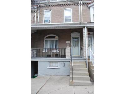 Allentown City PA Single Family Home Available: $70,000