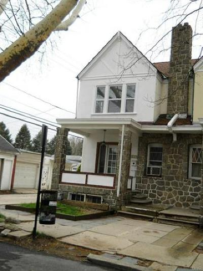 Allentown City Single Family Home Available: 514 North Saint George Street